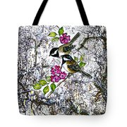 Chickadees In The Filbert Tree Tote Bag