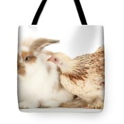 Chicken And Rabbit Tote Bag