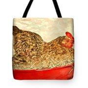 Chicken Hen Painting Art Print Tote Bag