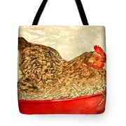 Chicken Hen Painting Art Print Tote Bag
