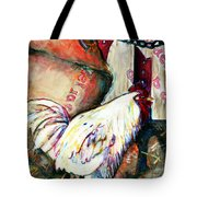 Chicken In The Barn Tote Bag