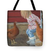 Chicken Talk Tote Bag by Tammy Taylor