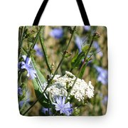 Chicory And Lace Tote Bag