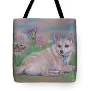 Chihuahua With Butterflies  Tote Bag