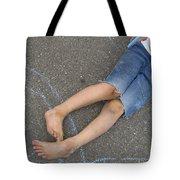 Childhood - Boy Draws With Chalk Tote Bag