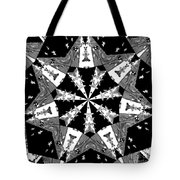 Children Animals Kaleidoscope Black And White Tote Bag