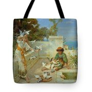 Children By The Mediterranean  Tote Bag