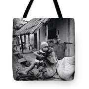 Children In Agra In India Tote Bag