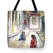Children In Nicosia Tote Bag