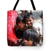 Children Of Labor In India Tote Bag