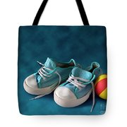 Children Sneakers Tote Bag by Carlos Caetano