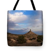 Chimney Rock On The Oregon Trail Tote Bag