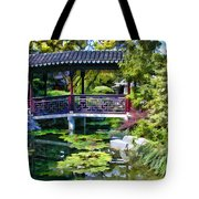 Chinese Gardens In Portland Oregon Tote Bag