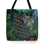 Chinese Hanging Temple Tote Bag