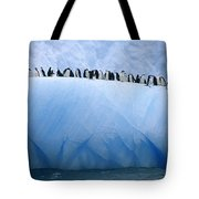 Chinstrap Penguins Lined Tote Bag