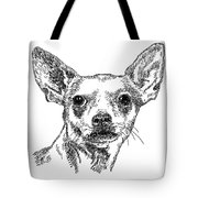 Chiwawa-portrait-drawing Tote Bag