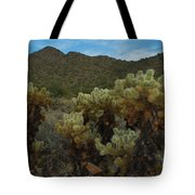 Cholla On The Mountainside Tote Bag