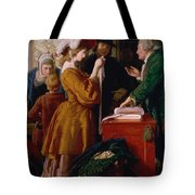 Choosing The Wedding Gown From Chapter 1 Of 'the Vicar Of Wakefield' Tote Bag