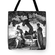 Christ & Woman Of Samaria Tote Bag