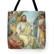 Christ And His Disciples Tote Bag