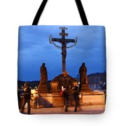 Christ Crucifixion Sculpture Tote Bag