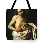 Christ Displaying His Wounds Tote Bag