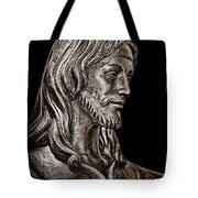 Christ In Bronze - Bw Tote Bag