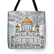 Christ The Saviour Cathedral In Moscow. The Main Entrance Tote Bag