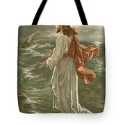 Christ Walking On The Waters Tote Bag