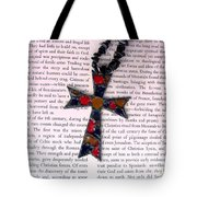 Christian  Cross Tote Bag by Cynthia Amaral
