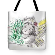 Christmas Angel Tote Bag by Laurie Lundquist