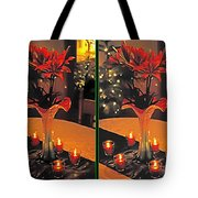 Christmas Arrangement - Gently Cross Your Eyes And Focus On The Middle Image Tote Bag
