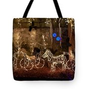 Christmas Carriages Tote Bag by DigiArt Diaries by Vicky B Fuller