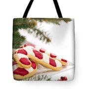 Christmas Cookies Decorated With Real Tree Branches Tote Bag