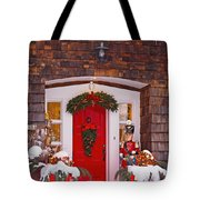Christmas Decorations Around A Front Tote Bag