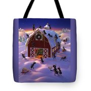 Christmas Decorator Ants Tote Bag by Robin Moline