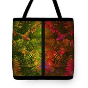 Christmas Fern Diptych Tote Bag by Judi Bagwell