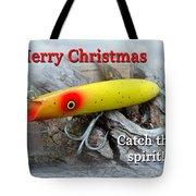 Christmas Greeting Card - Gibbs Darter Vintage Fishing Lure Tote Bag