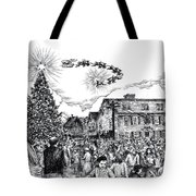 Christmas In Dock Square Rockport Tote Bag