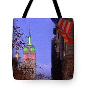 Christmas In New York Tote Bag