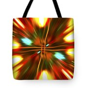 Christmas Light Abstract Tote Bag