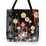 Christmas Lights In Alicante Tote Bag
