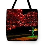 Christmas Lights Red And Green Tote Bag
