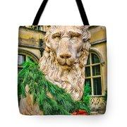 Christmas Lion At Biltmore Tote Bag