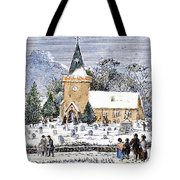 Christmas Morning, 1837 Tote Bag