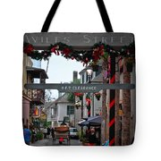 Christmas On Aviles Street Tote Bag by DigiArt Diaries by Vicky B Fuller