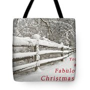 Christmas Path Tote Bag