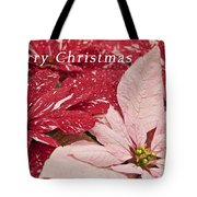 Christmas Poinsettias Tote Bag