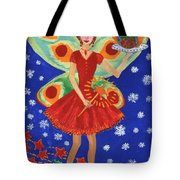 Christmas Pudding Fairy Tote Bag