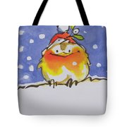 Christmas Robin Tote Bag